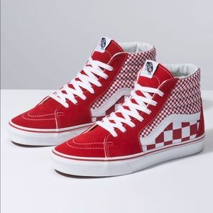 Vans Sk8-hi Mix Checker Chili Pepper